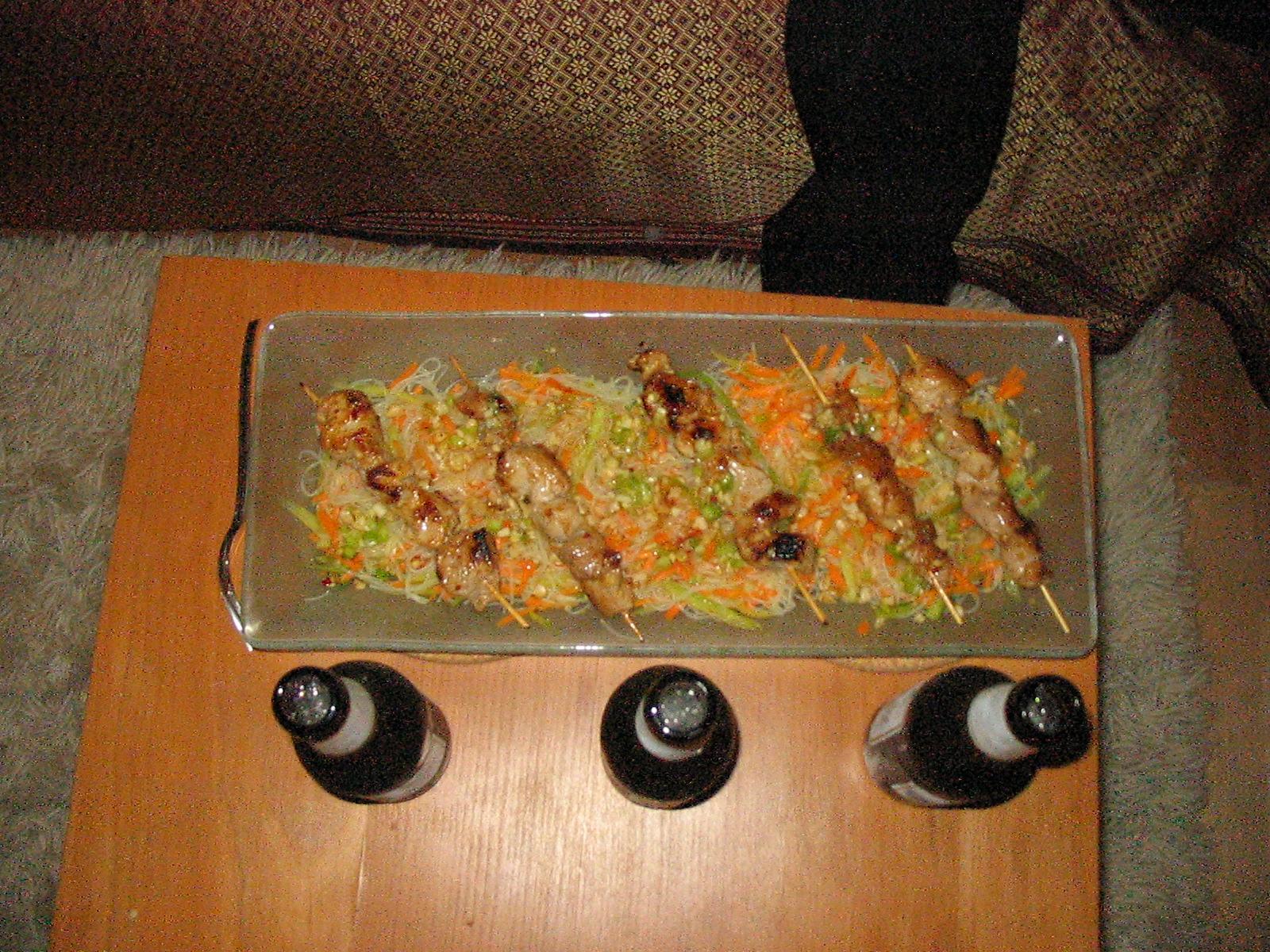 glas nudel salat