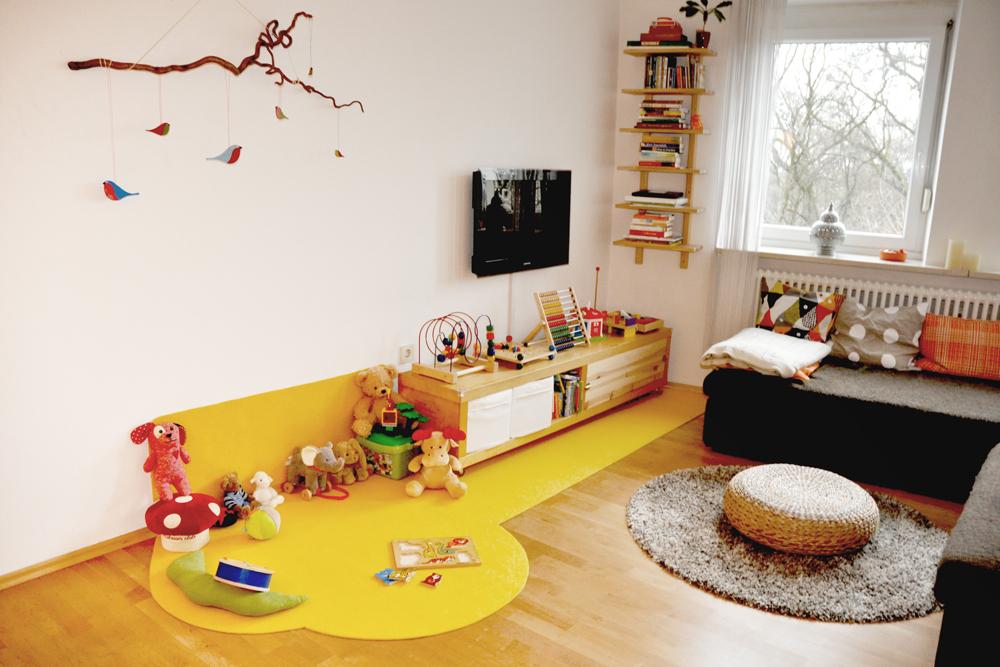 Spielteppich Nähen filz orange küche