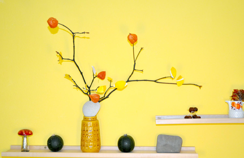 DekoDIY Herbst Part 2  bunte Natur  orange küche